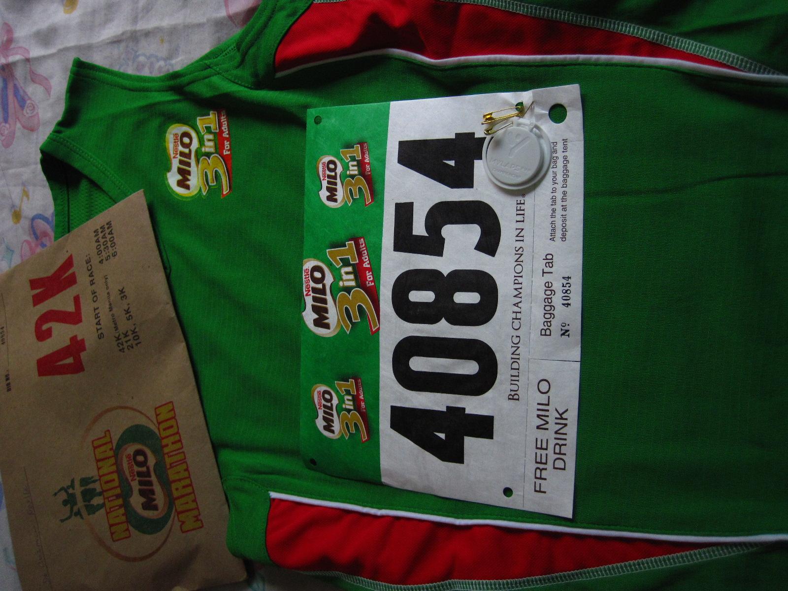 34th Milo Marathon Race Kit