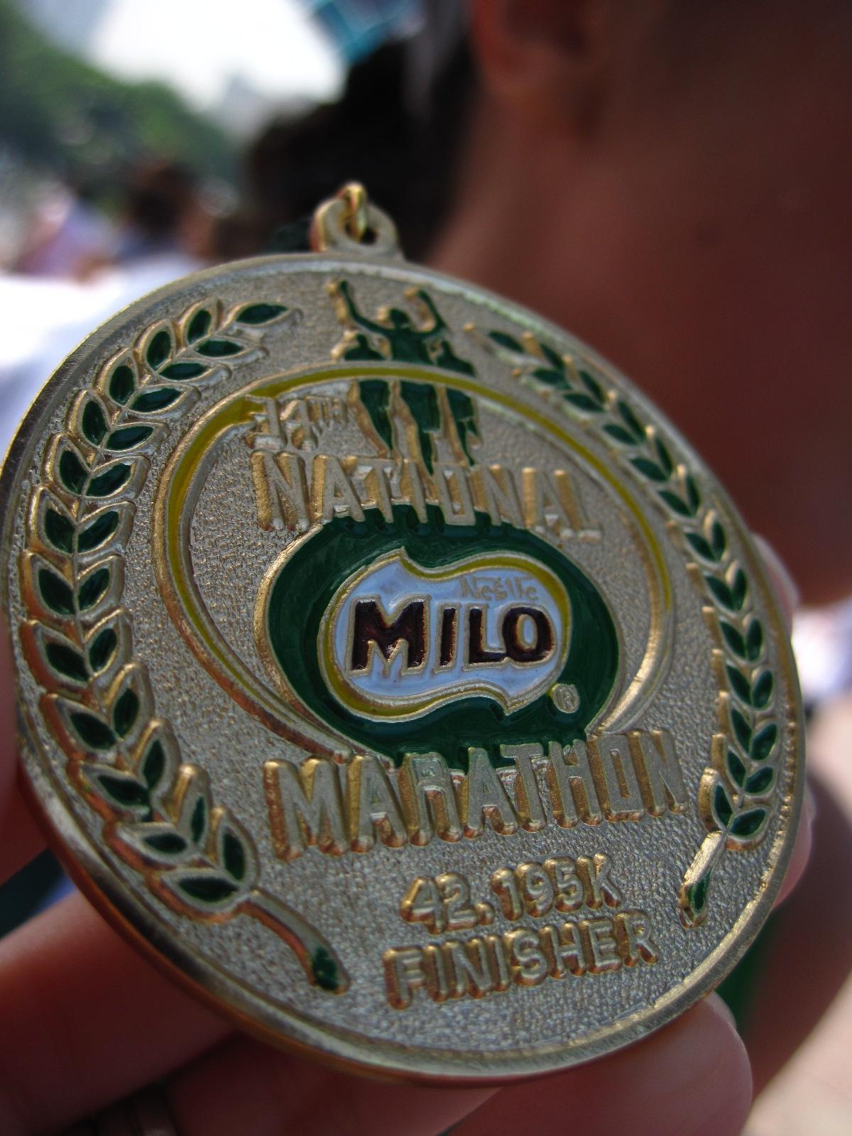34th Milo Marathon: Finisher's Medal