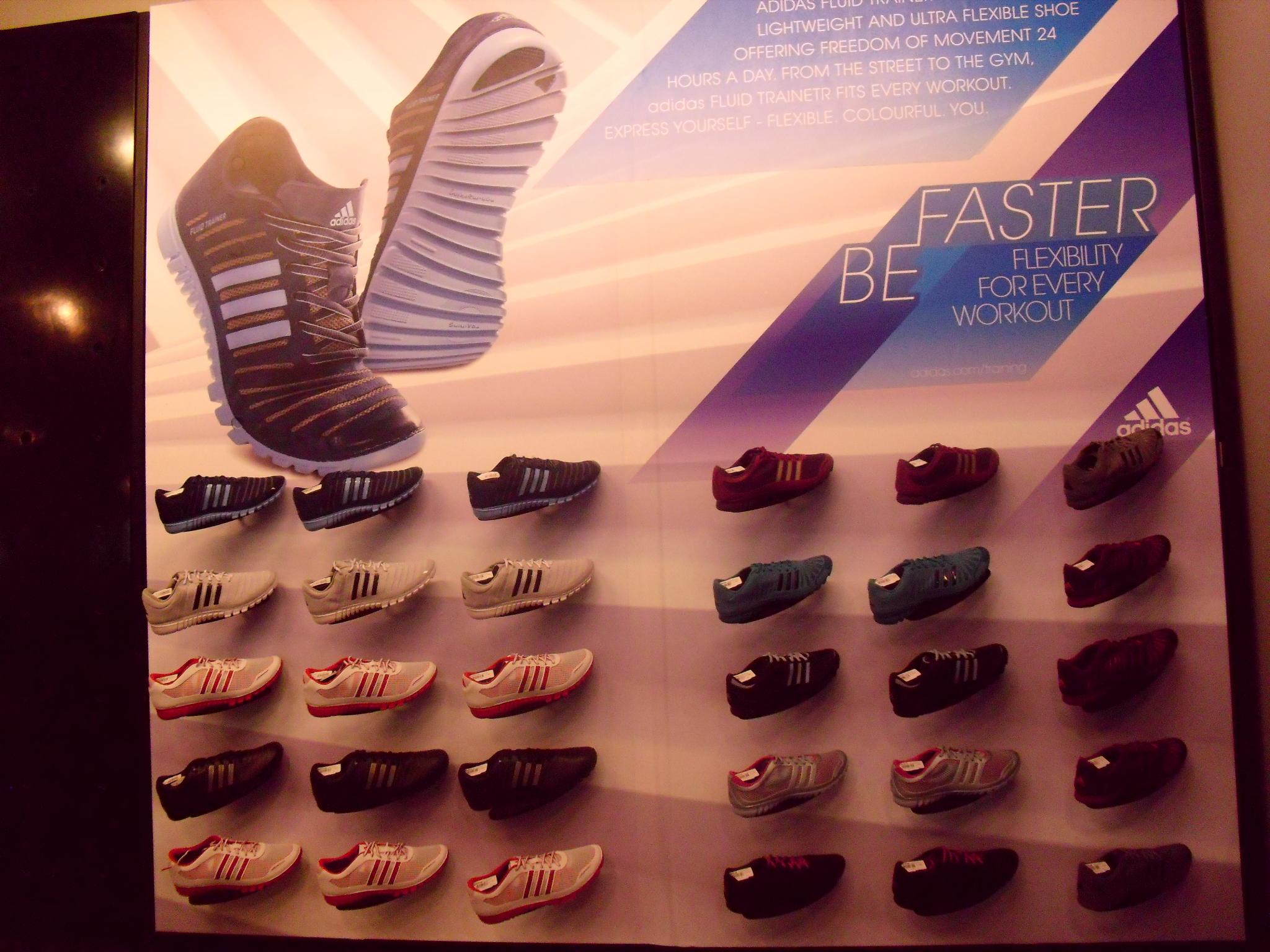Adidas Fluid Trainer launch: Wall