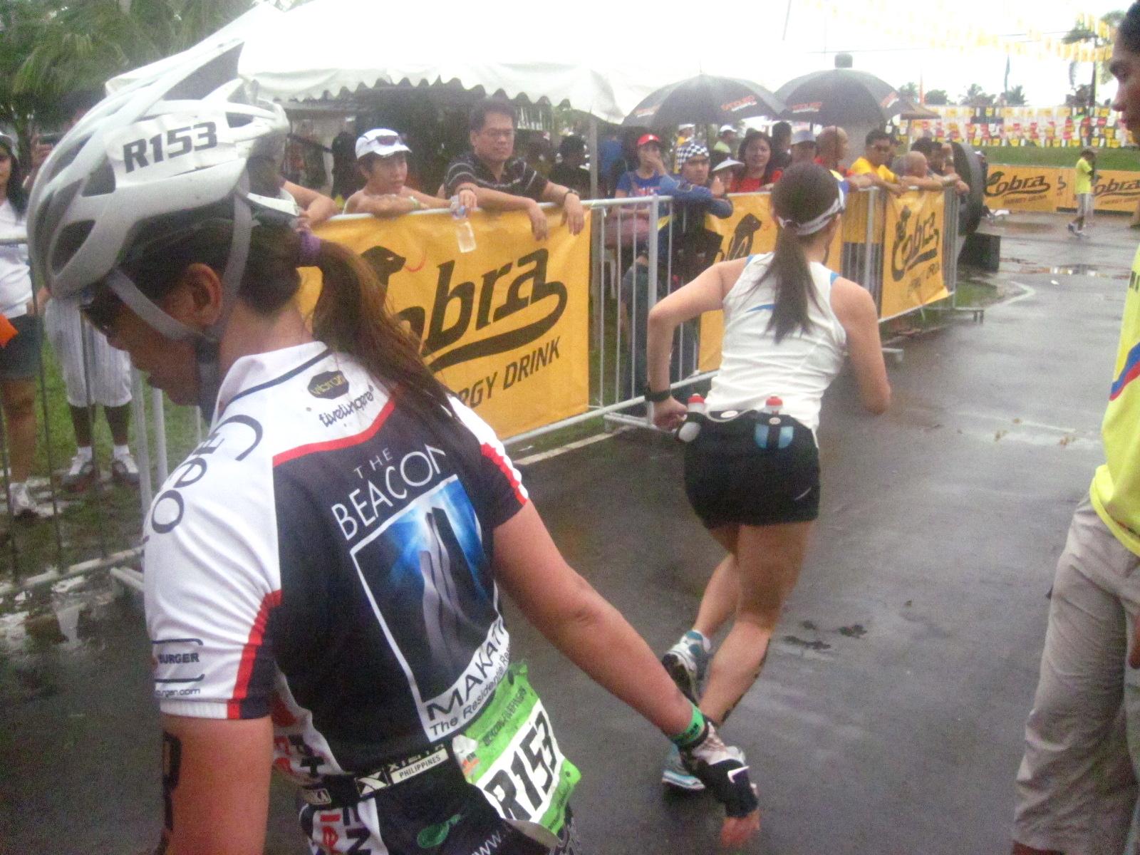 2011 Ironman 70.3: Relay Handoff