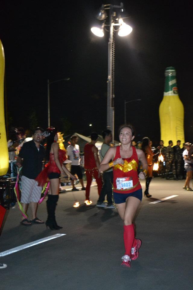 Adobo Run After Dark: running Wonder Woman