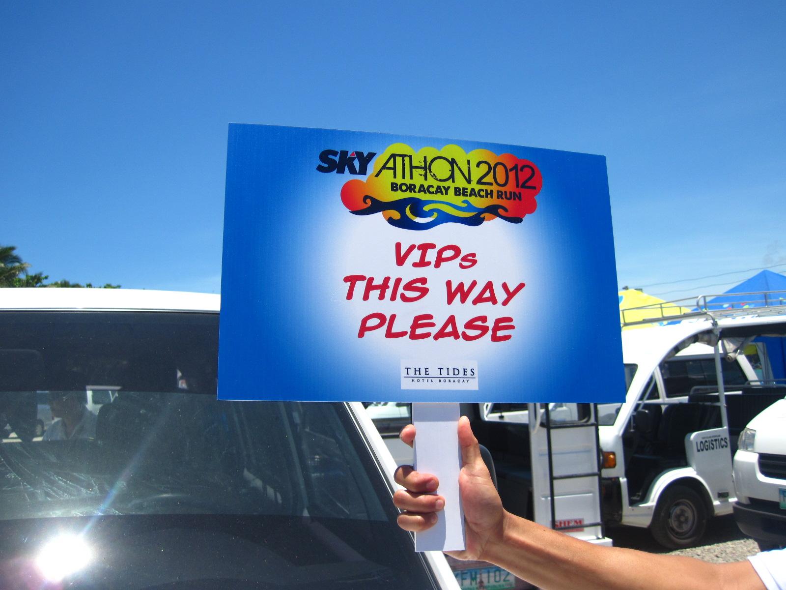Skyathon 2012: VIP treatment