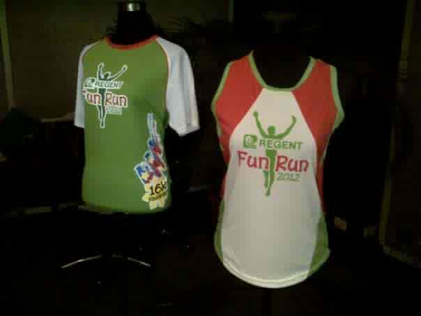 Regent Run 2012: Singlet and 16K Finisher's Shirt