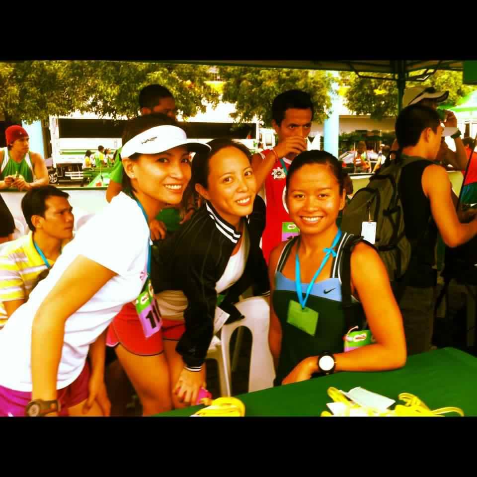 36th Milo Marathon: with fellow podium finishers