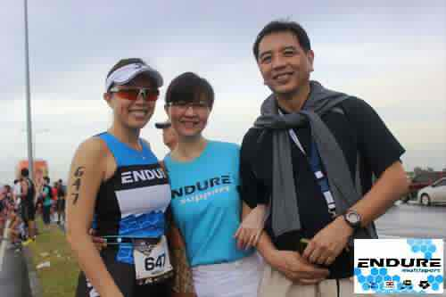 Unilab Active Health Duathlon: with my parents