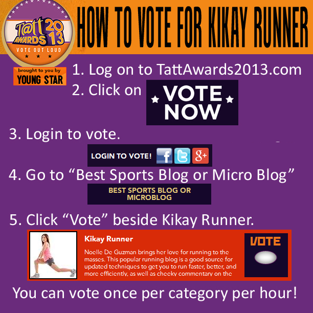 Vote Kikay Runner for Best Sports Blog at Tatt Awards 2013