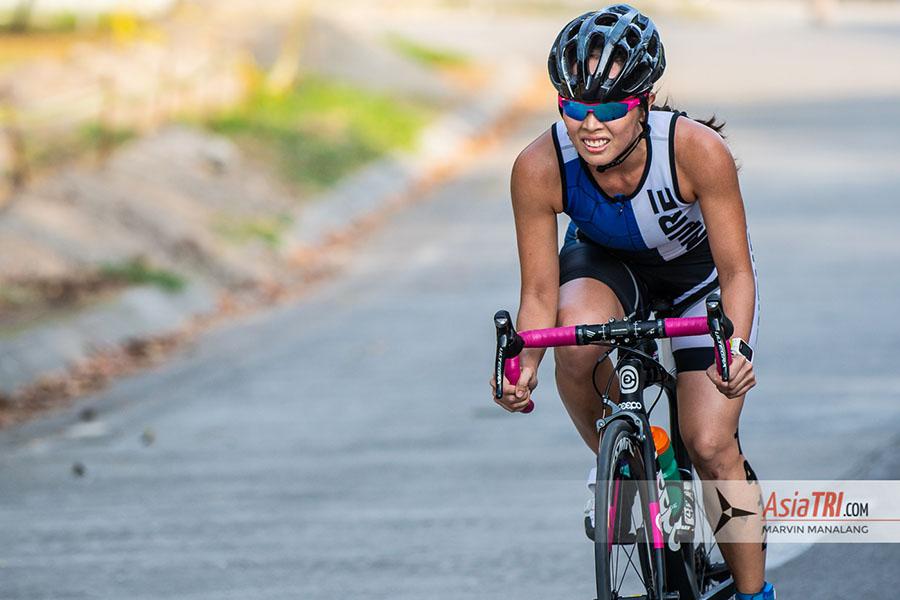 cycling at TRI-Factor Run-Bike-Run in Clark Global City