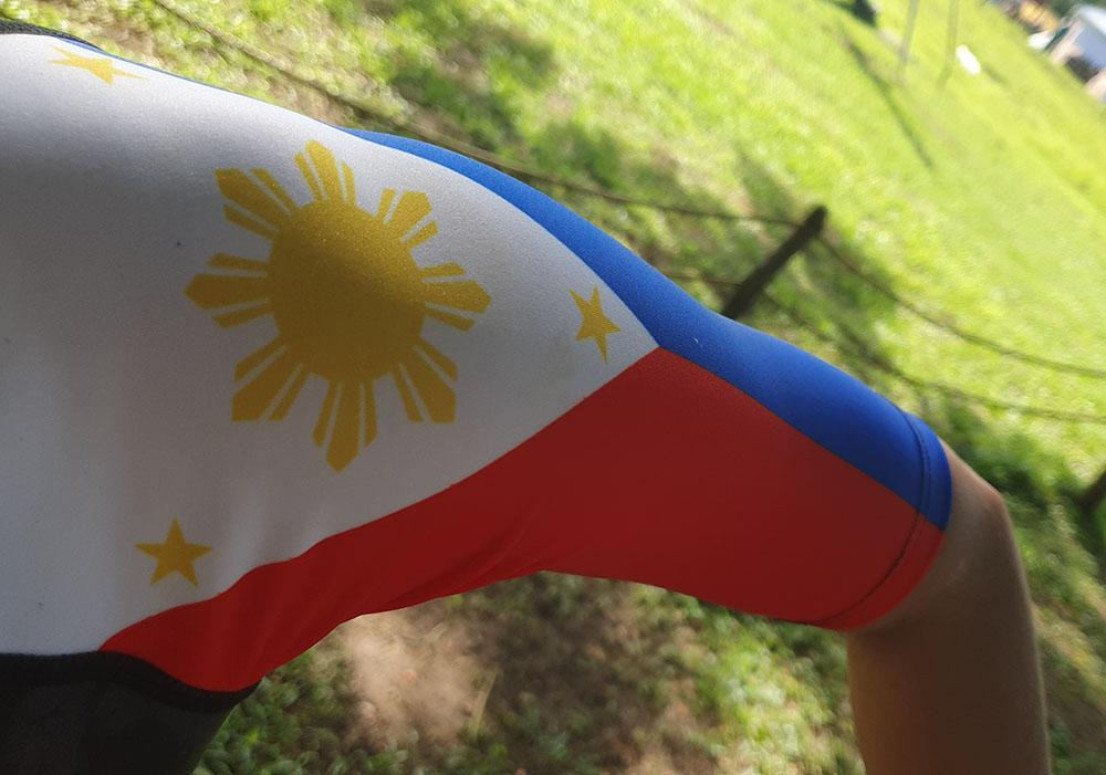 Philippine flag on tri suit
