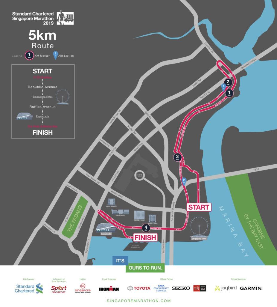 Standard Chartered Singapore Marathon 2019 5km route