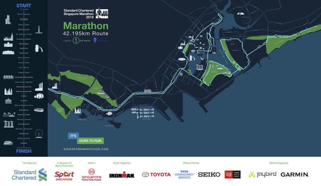 Standard Chartered Singapore Marathon 2019 42Km route