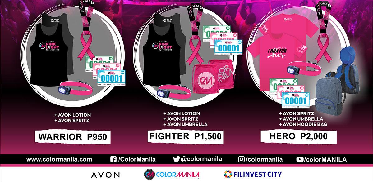 Avon Pink Light Run on October 19, 2019