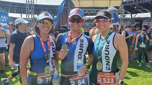 Team Endure at New Clark City Triathlon