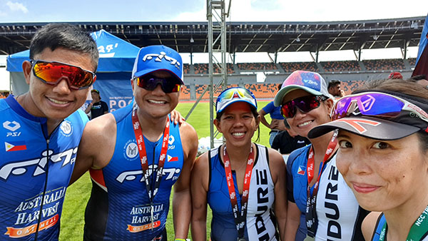 tri and running friends finished the New Clark City Triathlon