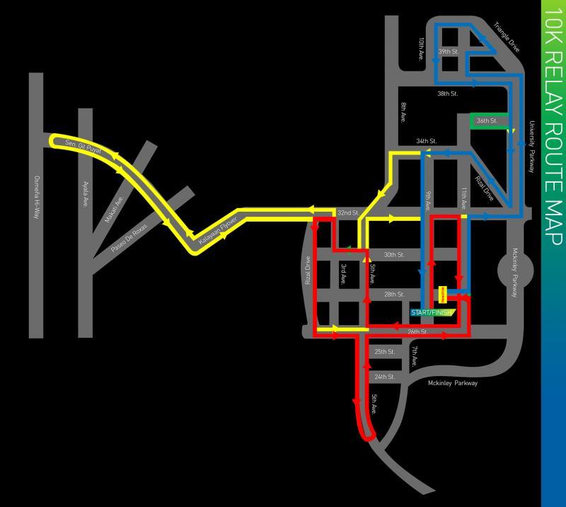 KOTR 2013 10K relay route