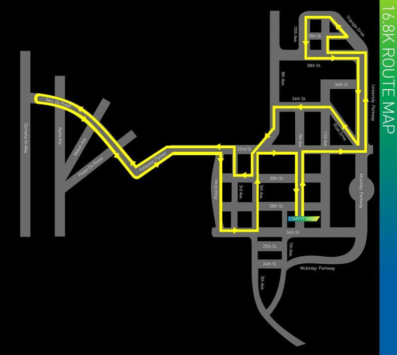KOTR 2013 16.8K route