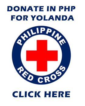 Donate to Philippine Red Cross for Typhoon Yolanda / Haiyan Relief