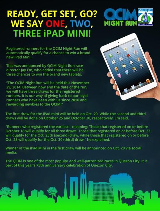 QCIM Night Run iPad Mini draw