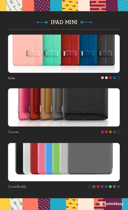 SwitchEasy covers for iPad Mini