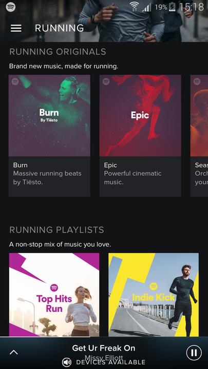 Spotify Running playlists