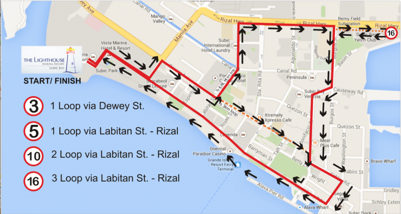 SFF Victory Run race routes