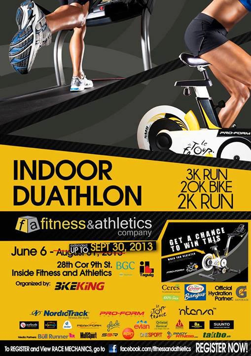 Fitness and Athletics Indoor Duathlon extended til September 30