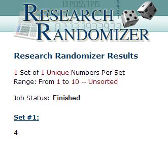 Randomizer.org results