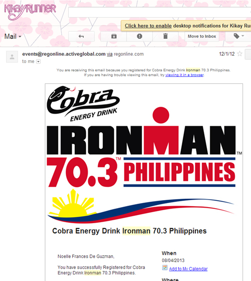 Registered for Ironman 70.3 Philippines!