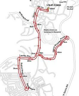 Urbanite Run 10k route