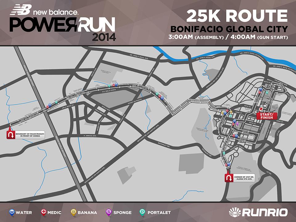 New Balance Power Run 25K race map