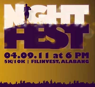 Takbo.ph Nightfest on April 9