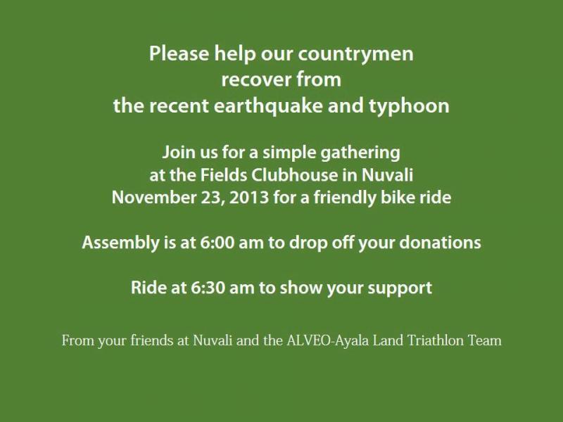 benefit ride for Yolanda