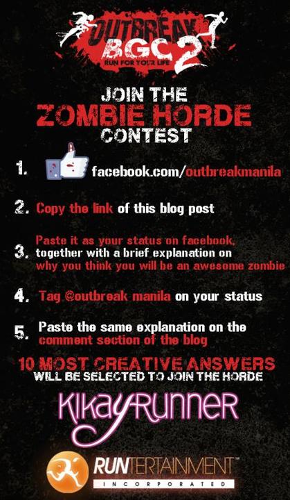 Outbreak BGC zombie contest