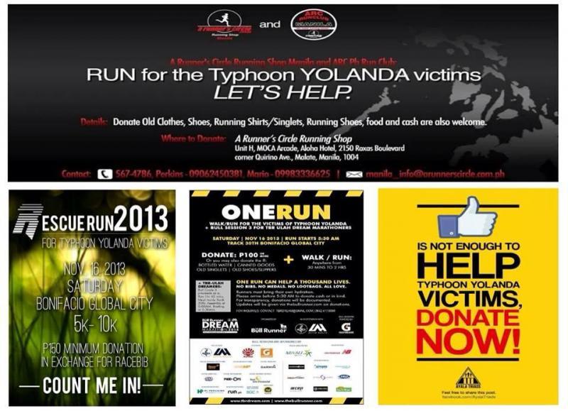 benefit runs for Yolanda