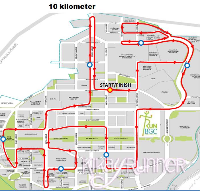 Run BGC 10K Route Map