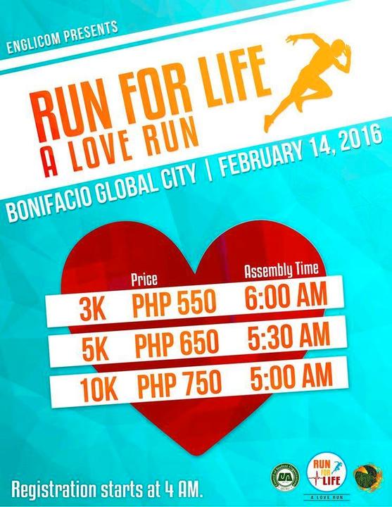 Run for Life: A Love Run on February 14, 2016