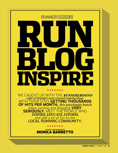 Top Running Bloggers feature