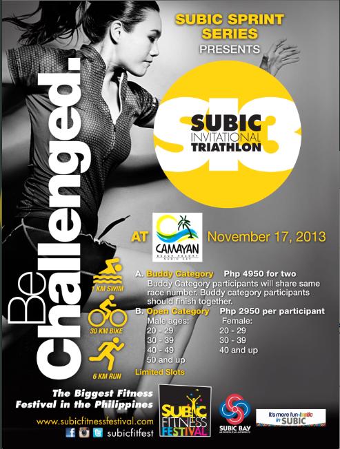 Subic Invitational Triathlon on November 17