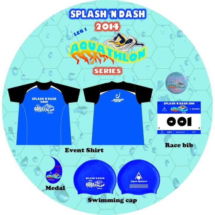 Splash n Dash Aquathlon swag