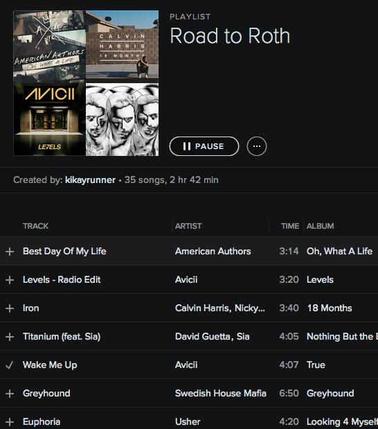 #RoadtoRoth playlist on Spotify