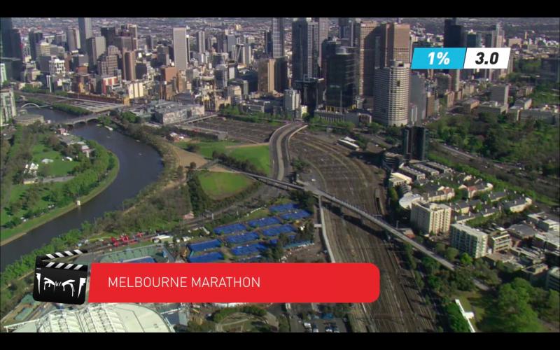 Licensed footage from Melbourne Marathon