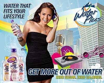 WaterPlus endorsed by Andi Manzano